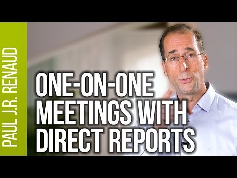 One on one meetings with direct reports  |  Paul Renaud