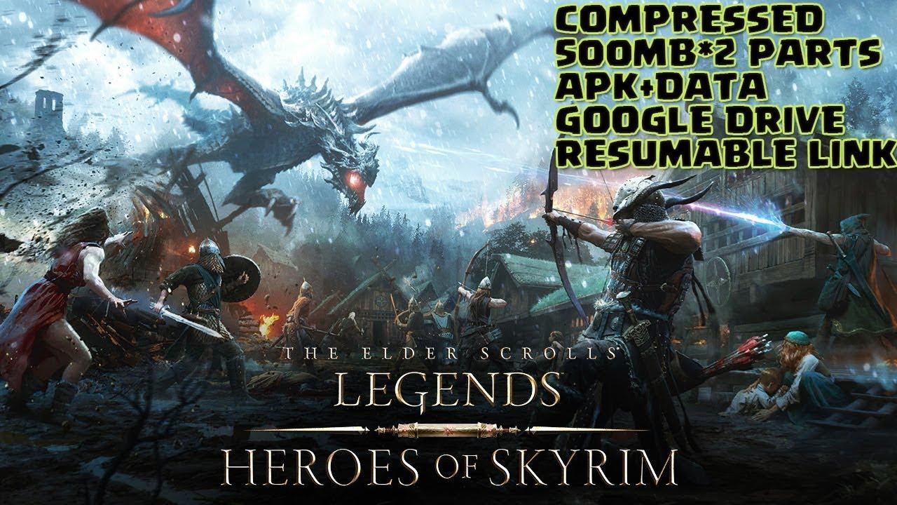 The Elder Scroll Legend-Heroes of Skyrim v 1 66 0 Review & Gameplay    Compressed   APK+Data 