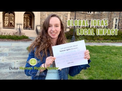 Global Ideas, Local Impact: Human Rights Certificate