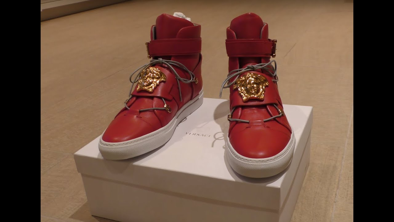 Versace Sneakers are Pure FIRE! Review Red Palazzo Leather ...