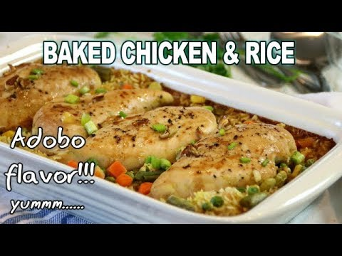 Baked Chicken & Rice With ADOBO FLAVOR