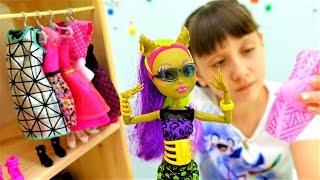 Игры для девочек и видео про Монстер Хай и Барби: шоппинг. Куклы и одевалки на ютуб