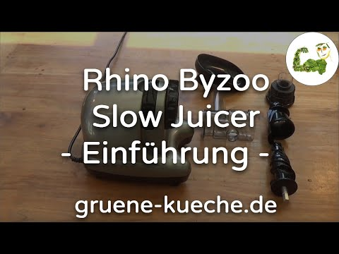Rhino Byzoo Slow Juicer - Vorstellung (Teil 1/5)