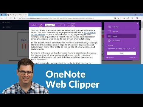 How I Use OneNote Web Clipper