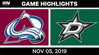 NHL Highlights   Avalanche vs. Stars – Nov. 5, 2019