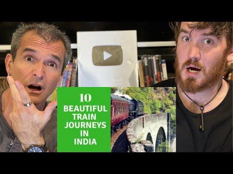 Top 10 Beautiful Train Journeys in India REACTION!!