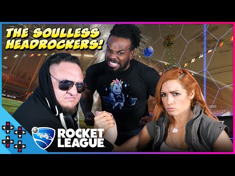 BECKY LYNCH and SAMOA JOE team up as the SOULLESS HEADROCKERS in ROCKET LEAGUE! - UUDD Plays thumbnail