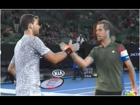 Grigor Dimitrov vs. Richard Gasquet 6-3, 6-2, 6-4 Australian Open (R32) 21.01.2017. (BGR Audio)