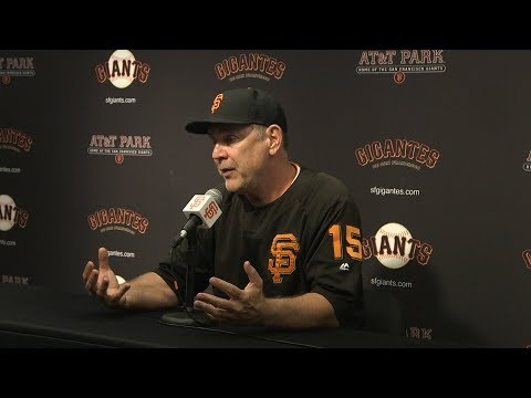 Bochy on Cain's impact: 'Guys were crying in the dugout, that's how much they care about this guy'
