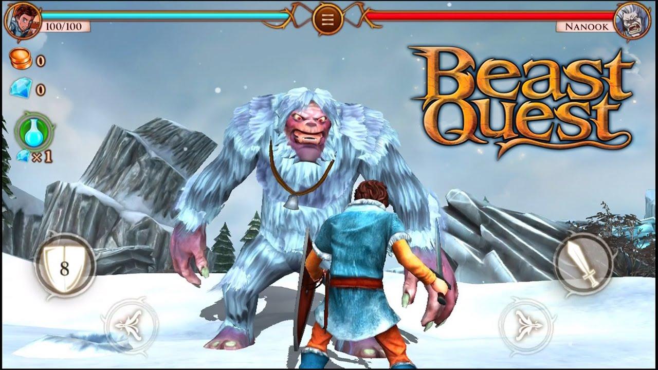 beast quest  hunting nanook gameplay walkthrough ios