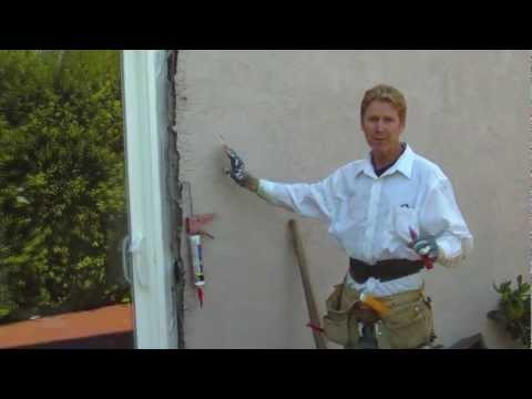Sliding glass door plaster repairs