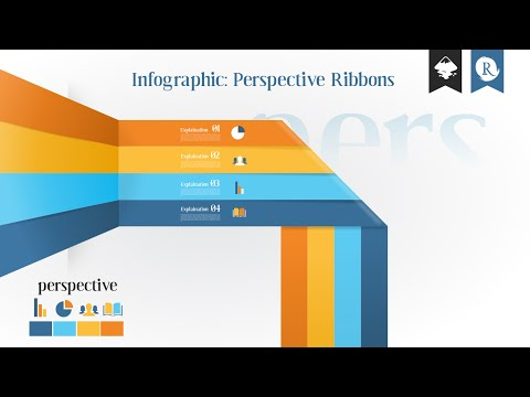 Inkscape infographic: Perspective Ribbons