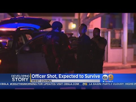 West Covina Police Officer Shot