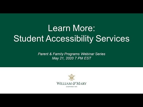 Learn More: Student Accessibility Services
