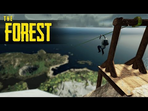 ZIPLINE ACROSS THE MAP! The Forest Mods