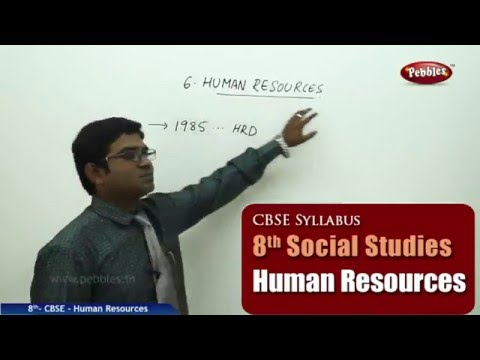 Human Resources | Class 8th Social Studies | NCERT | CBSE Syllabus | Live Videos