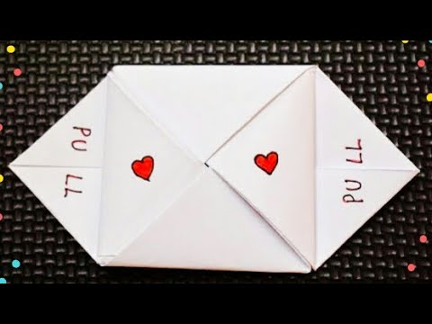 Easy Cute Valentine's  Day Note | DIY Valentine's Day Letter Folding Ideas #valentinesdaycrafts