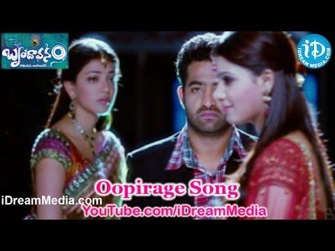 Oopirage Song - Brindaavanam Movie Songs - Jr Ntr - Kajal Aggarwal - Samantha