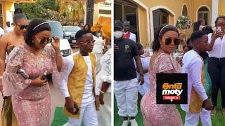 Nana Ama McBrown Arrives At Popular Producer's wedding