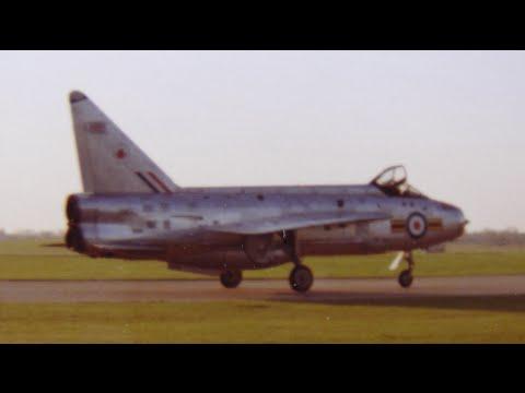 English Electric Lightning fast jet fighters - RAF Wattisham early 1970s