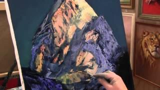 Игорь Сахаров, научиться рисовать маслом горы