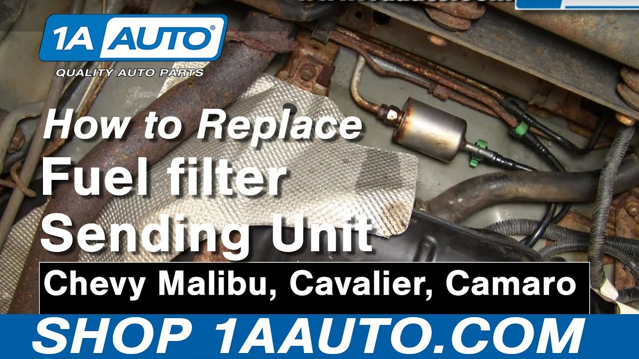 how to install replace fuel filter chevy malibu cavalier camaro more 1aauto com [ 1280 x 720 Pixel ]