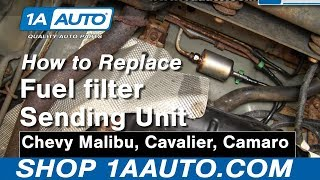 how to replace fuel filter 97-03 chevy malibu - youtube  youtube