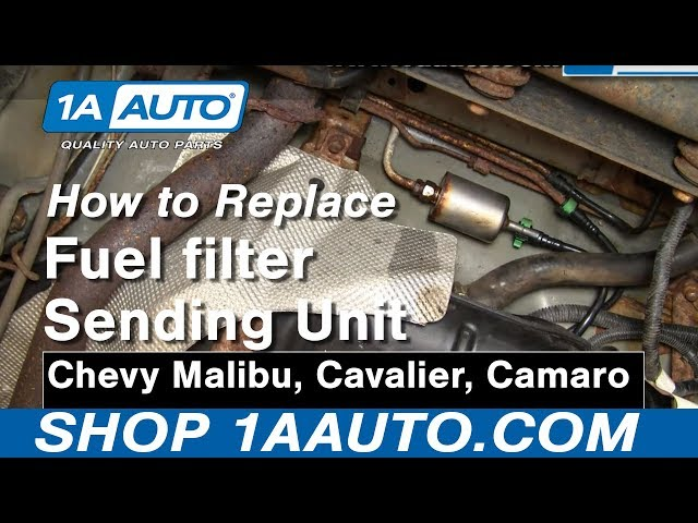 how to replace fuel filter 97-03 chevy malibu | 1a auto  1a auto