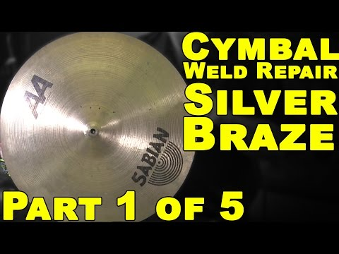 Welding Bronze Cymbals (Part 1 of 5) - Silver Brazing | TIG Time