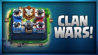 CLAN WARS ARE HERE!! Clash Royale New Update Hype!!