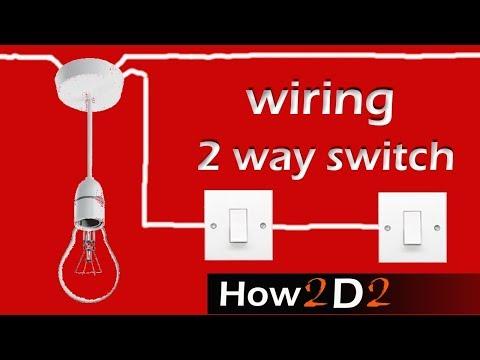 LIGHT SWITCH  Wiring 2 way switch  How to wire 2-way light switch