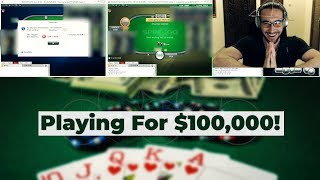 Playing For $100,000! High Stakes Spin & Go Jackpot On PokerStars