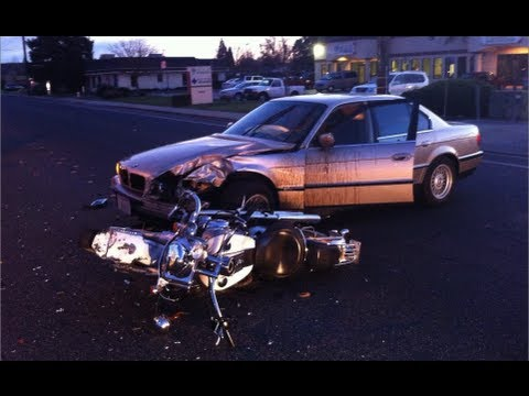 Car Vs  Motorcycle Traffic Accident in Modesto, California - Modesto News