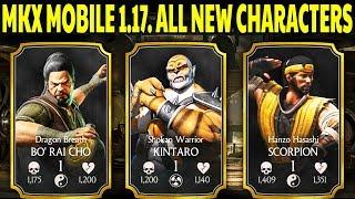 MKX Mobile 1.17 Update. New Characters Gameplay + Review. Bo Rai Cho, Kintaro and Hanzo Hasashi!