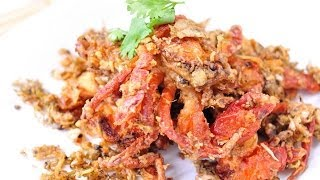 Thai Food - Deep Fried Soft Shell Crab With Garlic And Pepper (pu Nim Tod Kra Tium Pik Thai)
