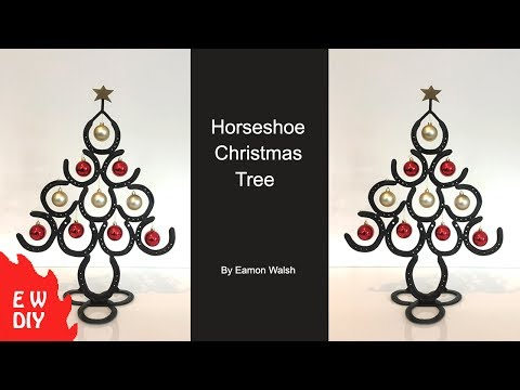 How to make a Horseshoe Christmas tree