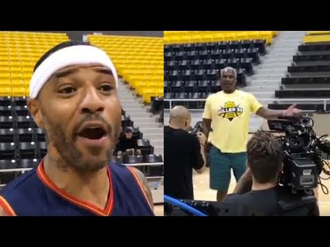 Kenyon Martin CHALLENGES Charles Oakley to 1-on-1