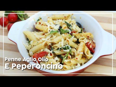 Pasta Recipe | Penne Aglio Olio E Peperoncino | Easy To Make Italian Pasta