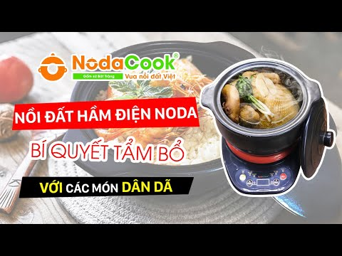 Bộ nồi kho cá điện tự động NodaCook 3 lít (đen)