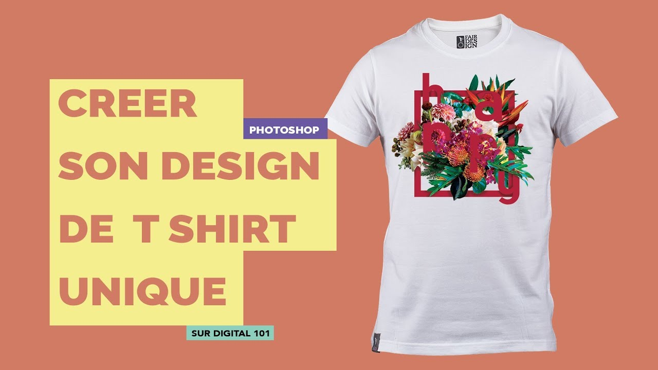 CREER SON T SHIRT AVEC PHOTOSHOP - TUTO -