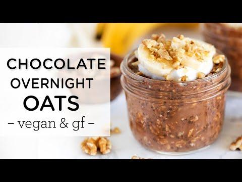 CHOCOLATE OVERNIGHT OATS ‣‣ Amazing Vegan Breakfast Recipe