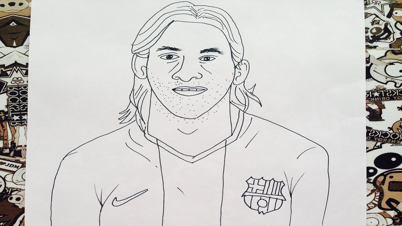 Como Dibujar A Messi How To Draw Messi Como Desenhar Messi