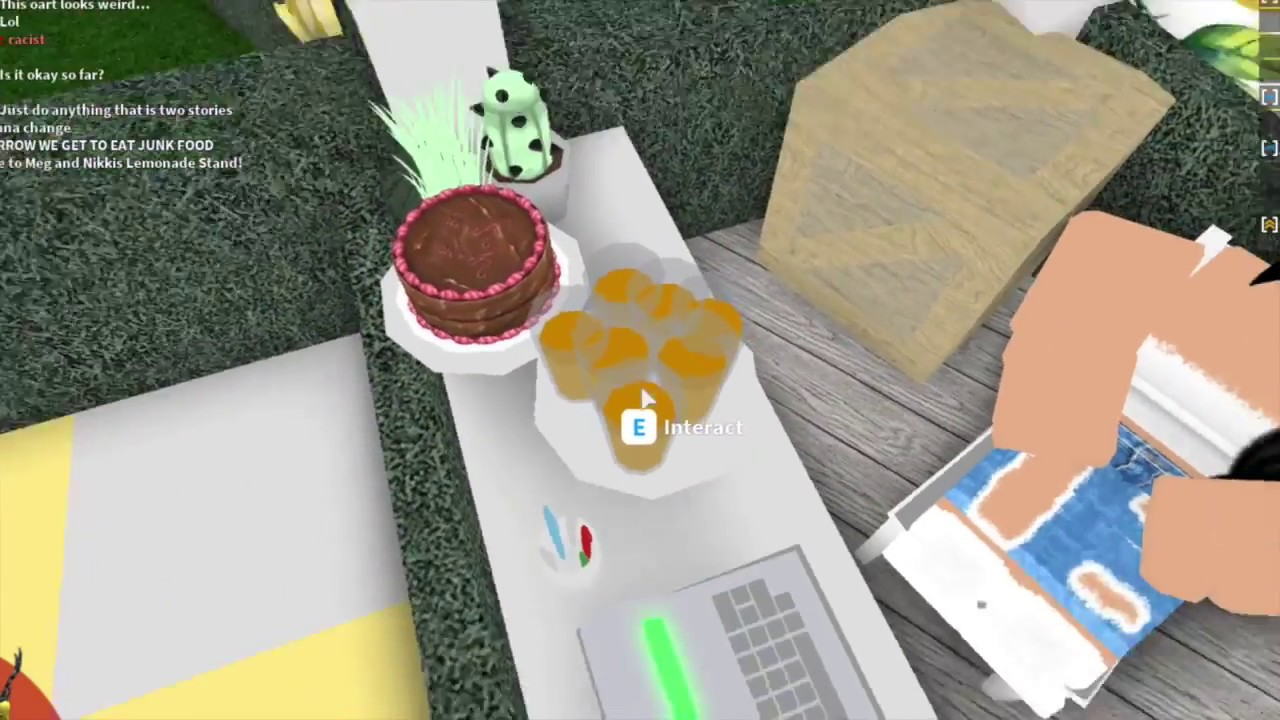 Welcome To Bloxburg Lemonade Stand Megxnikki Youtube