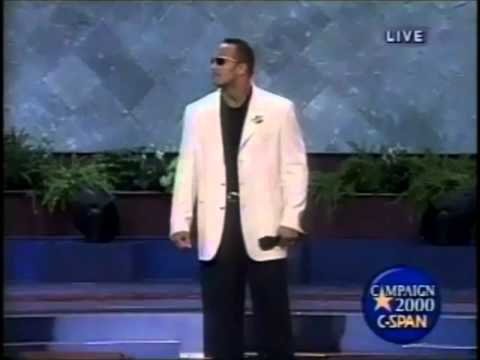 The Rock at Republican National Convention 2000