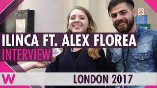 ilinca ft alex florea romania 2017 interview london eurovision party 2017