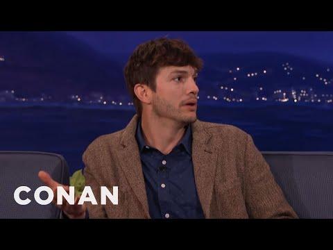Ashton Kutcher Wanted To Name His New Baby Hawkeye   CONAN on TBS