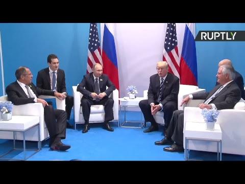 Владимир Путин встречается с Дональдом Трампом на саммите G20