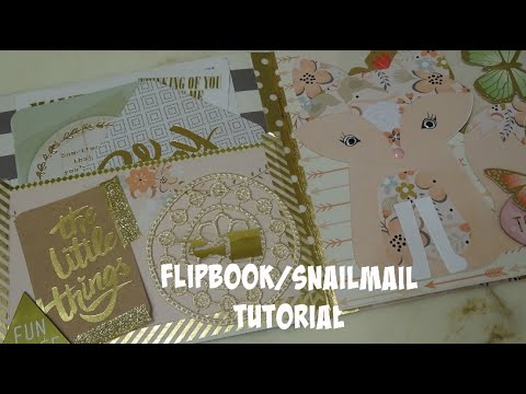 Flip Book//Snail Mail Tutorial & How To Easily Secure Your Washi Binding
