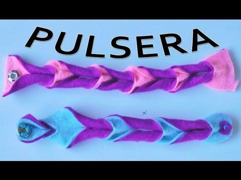 Pulseras de fieltro manualidades para todos youtube for Como hacer pulseras de goma eva