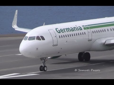 NEW A321 Germania Sharklets || Various Airlines || Madeira
